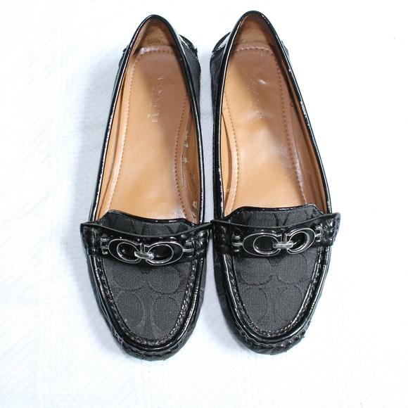 dbabfe1f850 Coach Shoes - Coach Fortunata Canvas Slip On Loafers Sz 6.5